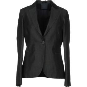 《期間限定セール開催中!》ASPESI レディース テーラードジャケット ブラック 40 52% コットン 48% 麻