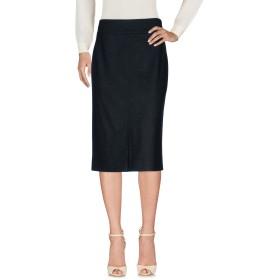 《送料無料》BLUMARINE レディース ひざ丈スカート スチールグレー 46 バージンウール 100%
