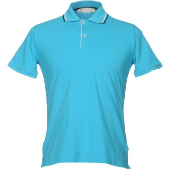 《セール開催中》PEUTEREY メンズ ポロシャツ ターコイズブルー XS コットン 100% / ポリエステル