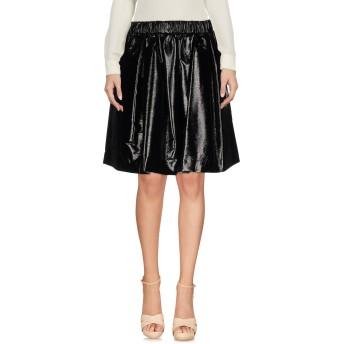 《セール開催中》MSGM レディース ひざ丈スカート ブラック 40 ポリエステル 75% / コットン 15% / レーヨン 10%