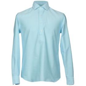 《送料無料》SALVATORE PICCOLO メンズ シャツ アジュールブルー 39 100% コットン