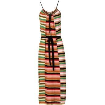 《セール開催中》SUOLI レディース 7分丈ワンピース・ドレス グリーン 44 コットン 85% / ポリエステル 8% / ナイロン 7%