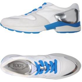 《期間限定 セール開催中》TOD'S レディース スニーカー&テニスシューズ(ローカット) ホワイト 35 革 / 紡績繊維