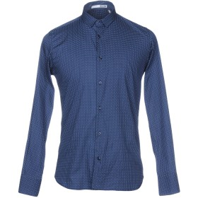 《期間限定セール開催中!》S.L.56 メンズ シャツ ダークブルー XL コットン 100%