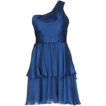 《セール開催中》ALESSANDRO DELL'ACQUA レディース ミニワンピース&ドレス ブルー 40 シルク 100%