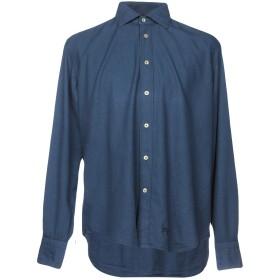 《期間限定 セール開催中》TINTORIA MATTEI 954 メンズ シャツ ダークブルー 37 コットン 100%