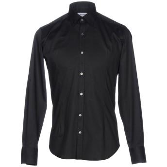 《9/20まで! 限定セール開催中》TAKESHY KUROSAWA メンズ シャツ ブラック S コットン 97% / ポリウレタン 3%