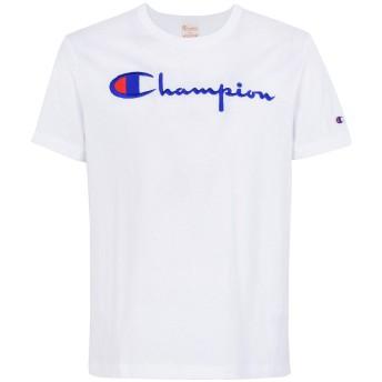 《セール開催中》CHAMPION REVERSE WEAVE メンズ T シャツ ホワイト S コットン 100% CREWNECK T-SHIRT LOGO