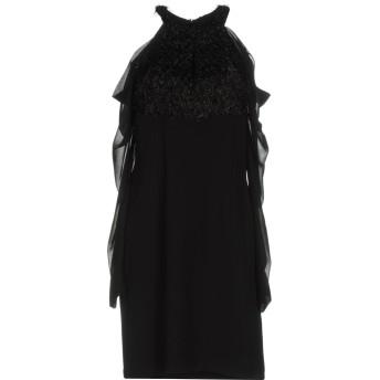 《セール開催中》ANNARITA N レディース ミニワンピース&ドレス ブラック 40 ポリエステル 100%