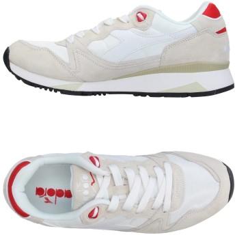 《期間限定セール開催中!》DIADORA メンズ スニーカー&テニスシューズ(ローカット) ホワイト 4.5 革 / 紡績繊維