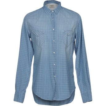 《9/20まで! 限定セール開催中》COAST WEBER & AHAUS メンズ シャツ スカイブルー M コットン 100%