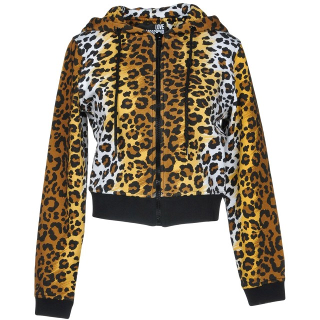 《期間限定セール開催中!》LOVE MOSCHINO レディース スウェットシャツ カーキ 40 コットン 100% / ポリウレタン