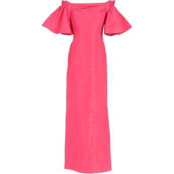 《9/20まで! 限定セール開催中》OSCAR DE LA RENTA レディース ロングワンピース&ドレス フューシャ 6 100% シルク