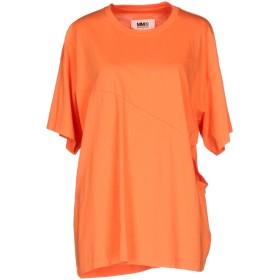 《期間限定セール開催中!》MM6 MAISON MARGIELA レディース T シャツ オレンジ XS コットン 100%