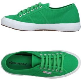 《セール開催中》SUPERGA レディース スニーカー&テニスシューズ(ローカット) グリーン 38 紡績繊維