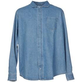 《期間限定セール開催中!》PAURA メンズ デニムシャツ ブルー S コットン 100%