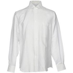 《期間限定 セール開催中》GIANMARCO BONAGA メンズ シャツ ホワイト 39 麻 50% / コットン 50%