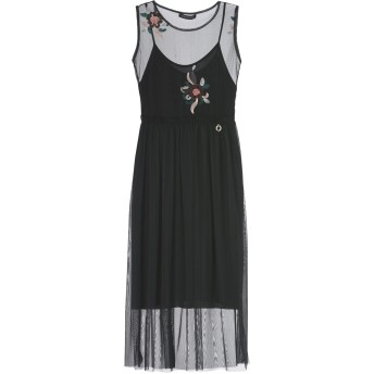 《期間限定セール開催中!》MANGANO レディース 7分丈ワンピース・ドレス ブラック one size ポリエステル 100%