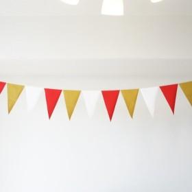 布ガーランド 290cn フラッグ 旗 結婚式 誕生日 パーティー キャンプ 飾り エレガンス