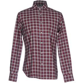 《期間限定セール開催中!》BROWN & BROS. メンズ シャツ レッド 39 コットン 100%
