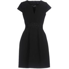《セール開催中》ATOS LOMBARDINI レディース ミニワンピース&ドレス ブラック 42 ポリエステル 98% / ポリウレタン 2%