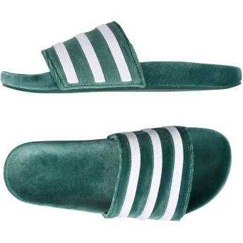 《セール開催中》ADIDAS ORIGINALS メンズ サンダル グリーン 4 紡績繊維 ADILETTE