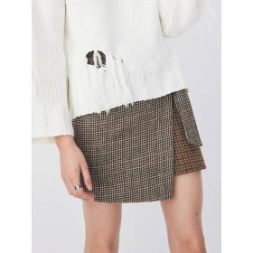 EVRIS MIXチェック ラップスカート