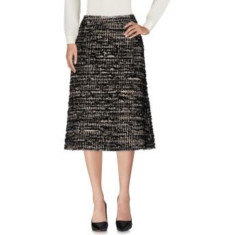 《セール開催中》SIMONE ROCHA レディース 7分丈スカート ブラック 6 ナイロン 47% / ウール 28% / コットン 23% / レーヨン 2%