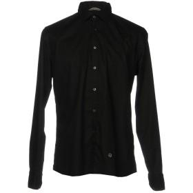 《期間限定セール開催中!》AT.P.CO メンズ シャツ ブラック 40 コットン 97% / ポリウレタン 3%