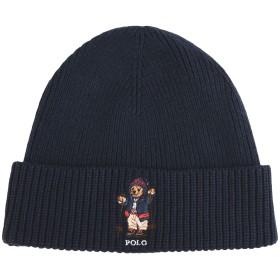 《セール開催中》RALPH LAUREN メンズ 帽子 ダークブルー one size コットン 60% / ナイロン 30% / ウール 10%
