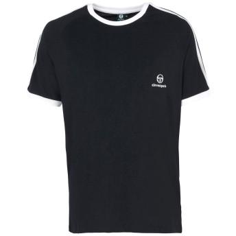 《9/20まで! 限定セール開催中》SERGIO TACCHINI x ELEVEN PARIS メンズ T シャツ ブラック S コットン 100% TRAVIS M