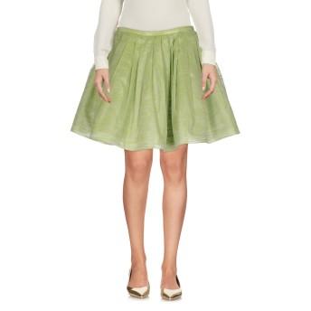 《セール開催中》FRANCESCO PAOLO SALERNO レディース ひざ丈スカート ライトグリーン 40 コットン 74% / シルク 18% / ポリエステル 8%