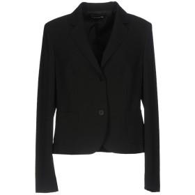 《セール開催中》DIANA GALLESI レディース テーラードジャケット ブラック 46 88% ポリエステル 12% ポリウレタン