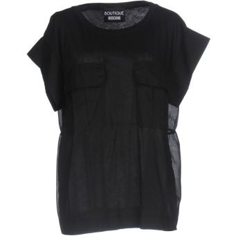 《9/20まで! 限定セール開催中》BOUTIQUE MOSCHINO レディース T シャツ ブラック 44 コットン 100%