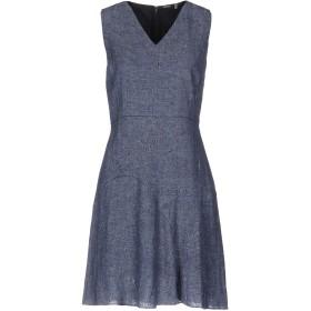 《期間限定セール中》ELIE TAHARI レディース ミニワンピース&ドレス ダークブルー 0 87% 麻 13% ナイロン