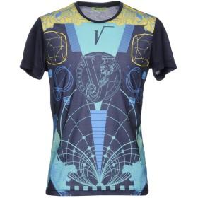 《期間限定セール中》VERSACE JEANS メンズ T シャツ ダークブルー XS コットン 96% / ポリウレタン 4%