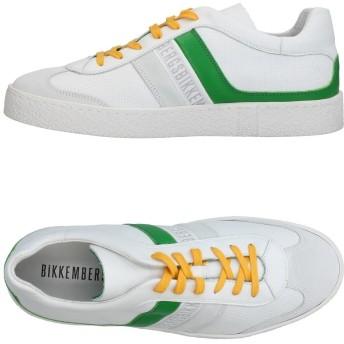 《期間限定 セール開催中》BIKKEMBERGS メンズ スニーカー&テニスシューズ(ローカット) ホワイト 40 革