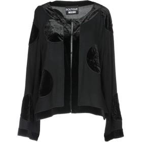 《期間限定 セール開催中》BOUTIQUE MOSCHINO レディース シャツ ブラック 38 レーヨン 100% / ポリエステル / ポリウレタン