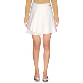 《セール開催中》FRANKIE MORELLO レディース ミニスカート ホワイト 42 レーヨン 65% / ナイロン 30% / ポリウレタン 5%