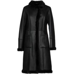《期間限定 セール開催中》OLIVIERI レディース コート ブラック 48 リアルファー 100%
