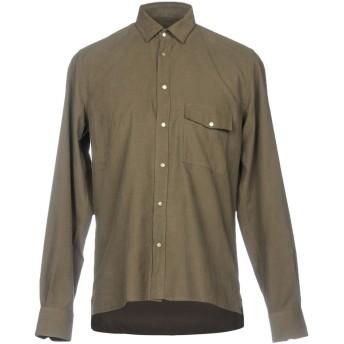 《セール開催中》LOW BRAND メンズ シャツ ミリタリーグリーン 3 100% コットン