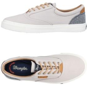 《セール開催中》WRANGLER メンズ スニーカー&テニスシューズ(ローカット) ライトグレー 40 革 / 紡績繊維