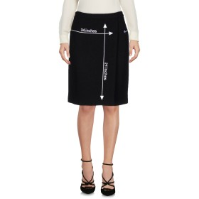 《送料無料》MOSCHINO レディース ひざ丈スカート ブラック 38 93% バージンウール 7% ナイロン