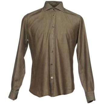 《セール開催中》MAZZARELLI メンズ シャツ グレー 41 100% コットン