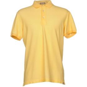 《期間限定 セール開催中》CAPOBIANCO メンズ ポロシャツ ライトイエロー M コットン 95% / ポリウレタン 5%