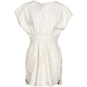 《セール開催中》VIONNET レディース ミニワンピース&ドレス アイボリー 42 羊革(ラムスキン) 70% / レーヨン 20% / シルク 10%