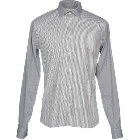 《期間限定セール開催中!》AGLINI メンズ シャツ ホワイト 43 コットン 78% / ナイロン 18% / ポリウレタン 4%