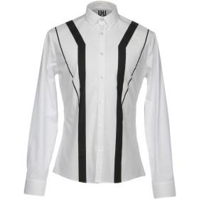 《セール開催中》LHU URBAN メンズ シャツ ホワイト 48 コットン 96% / ポリウレタン 4%