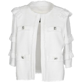 《期間限定セール開催中!》PINKO レディース テーラードジャケット ホワイト 46 48% コットン 40% アクリル 10% ポリエステル 2% レーヨン