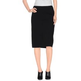 《送料無料》PIANURASTUDIO レディース ひざ丈スカート ブラック 44 レーヨン 64% / ナイロン 23% / ポリエステル 8% / ポリウレタン 5%